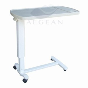 AG-OBT002 Height adjustable ABS bedside hospital table