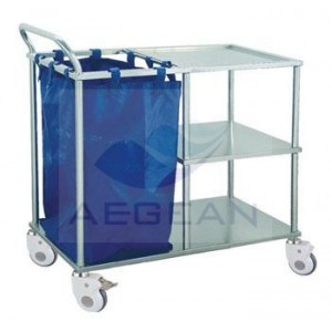 AG-SS010A CE&ISO approved stainless steel hospital trolley
