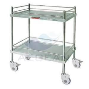 AG-SS042 Hospital stainless steel surgical treatment trolley