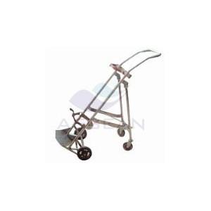 AG-SS066 CE ISO medical stainless steel oxygen bottle cart
