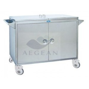 AG-SS067 CE & ISO with two handrails mobile phlebotomy carts