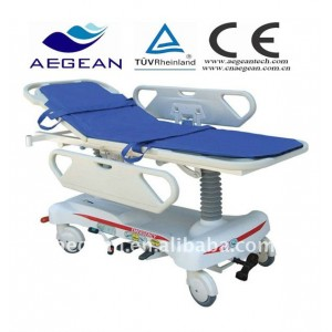 AG-HS008 With ABS handrail hospital economic hydraulic stretcher