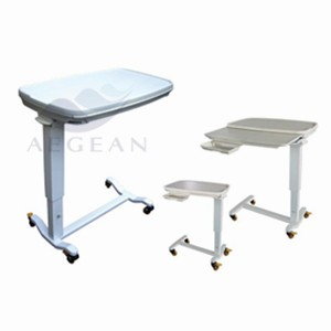 AG-OBT013 CE ISO with small drawer patient room over bed tables
