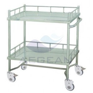 AG-SS042A Hospital patient treatment metal frame laptop cart