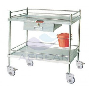 AG-SS042B CE ISO metal frame hospital economic instrumentinstrument cart