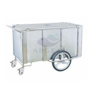AG-SS069 stainless steel cuboid medical transport cart