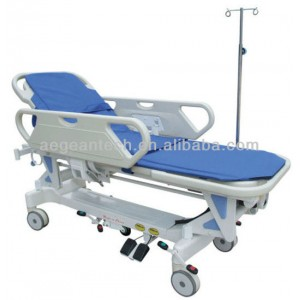 AG-HS009 With two abs handrails hospital cheap stretcher trolley