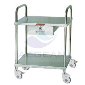 AG-SS042C With one small drawer hospital metal frame delivery cart