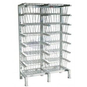 AG-SS070 304 stainless steel storage basket with shelves