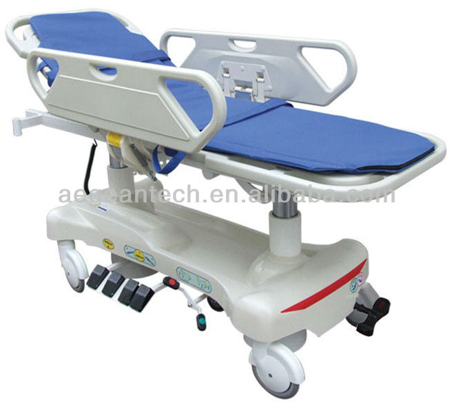 AG-HS010 With CPR handle PP material electric medical stretcher