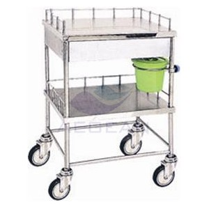 AG-SS044 Durable hospital stainless steel treatment trolley