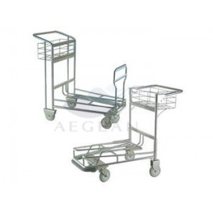 AG-SS074 CE & ISO 304 Utility Stainless Steel Luggage Cart