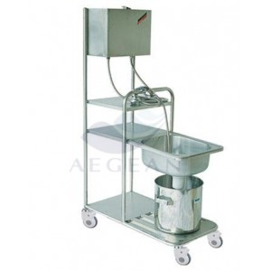AG-SS077 stainless steel floding washing hair cart