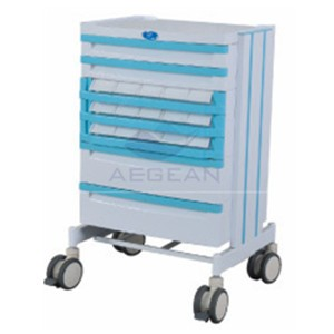 AG-WNT001 With many drawers hospital big size  medicine cart