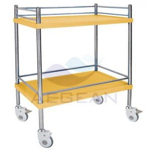 AG-SS053C best price high quality stainless steel trolley books