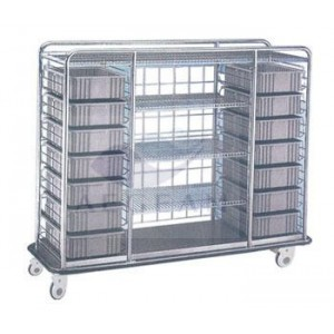 AG-SS079 Luxurious Stainless Steel Goods Delivering medical used hand cart