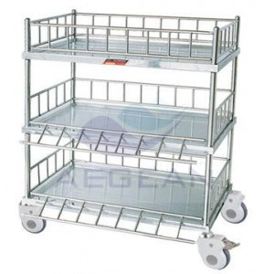 ​AG-SS054 cheap wheeled cart 3-tier stainless steel trolley