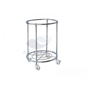 AG-SS081 column trolley medical supply trolley for dirty clothes
