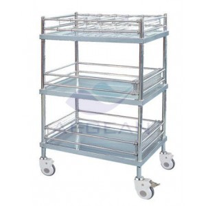 AG-SS055 With three layers hospital metal frame delivery cart