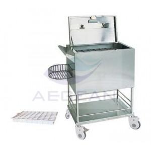 AG-SS056 Economic hospital metal frame moving medical crash cart