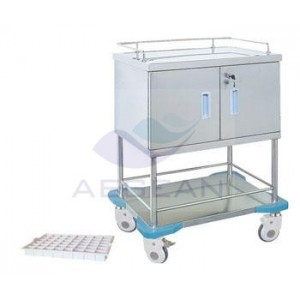 AG-SS057 With one door hospital high quality cheap steel utility cart