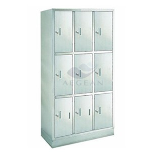 AG-SS001 Clothes Changing Steel Wardrobe with Nine Units