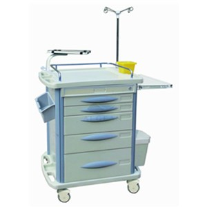 AG-ET007B3 Economic hospital ABS material  emergency cart