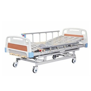 AG-BMS003 Three function hospital metal frame manual clinic beds