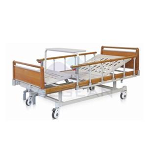 AG-BYS111 Two function wooden color home hospital beds