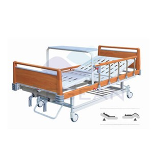 AG-BYS116 Good quality! 5-crank handrail manual hospital beds