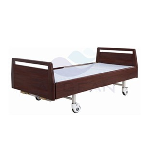 AG-BYS117 Wooden frame hospital popular manual bed
