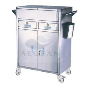 AG-ET018 304 Stainless steel Medical medication cart