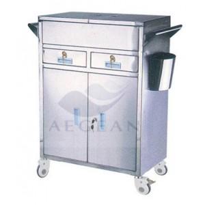 AG-ET018 304 Stainless steel Medical medication cart