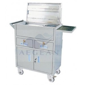 AG-ET019 CE&ISO approved durable hospital heavy duty trolley
