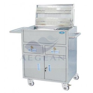 AG-ET020 CE and ISO approved 304 stainless steel health care trolley