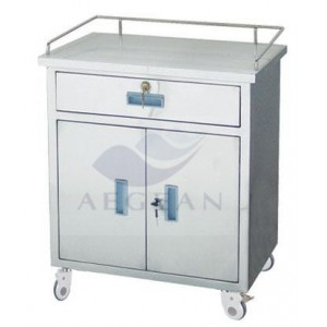 AG-AT022 durable and easy clean medical emergency trolley