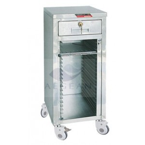CE approved AG-CHT014 stainless steel 24 shelves medical record cart
