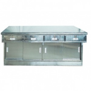 AG-MK001 with doors and drawers stainless steel working table