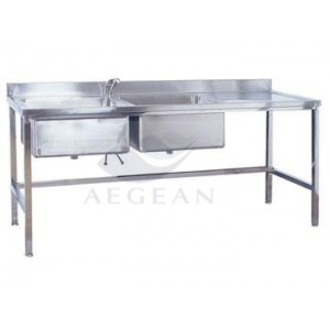 AG-WAS003 CE ISO stainless steel economic water sinks