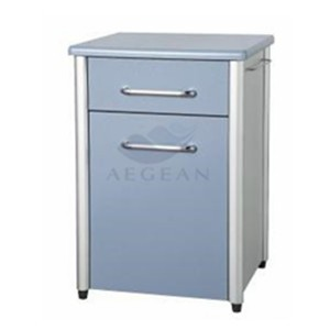 AG-BC010 Wooden frame hospital with one drawer bedside locker